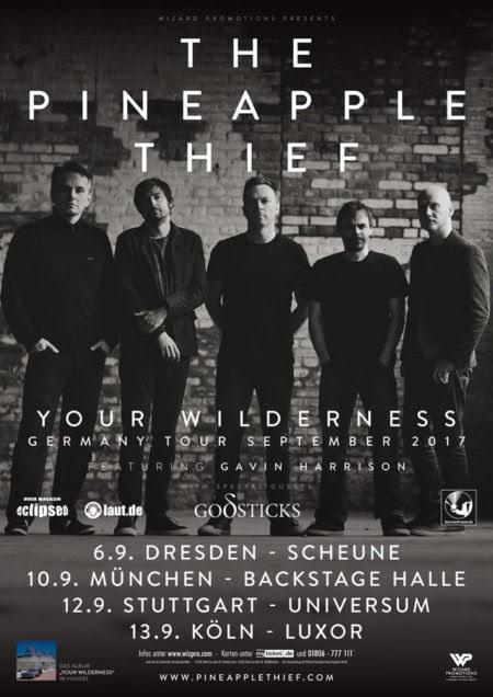 BetreutesProggen präsentiert die dtschen Termine der Herbsttour von The Pineapple Thief