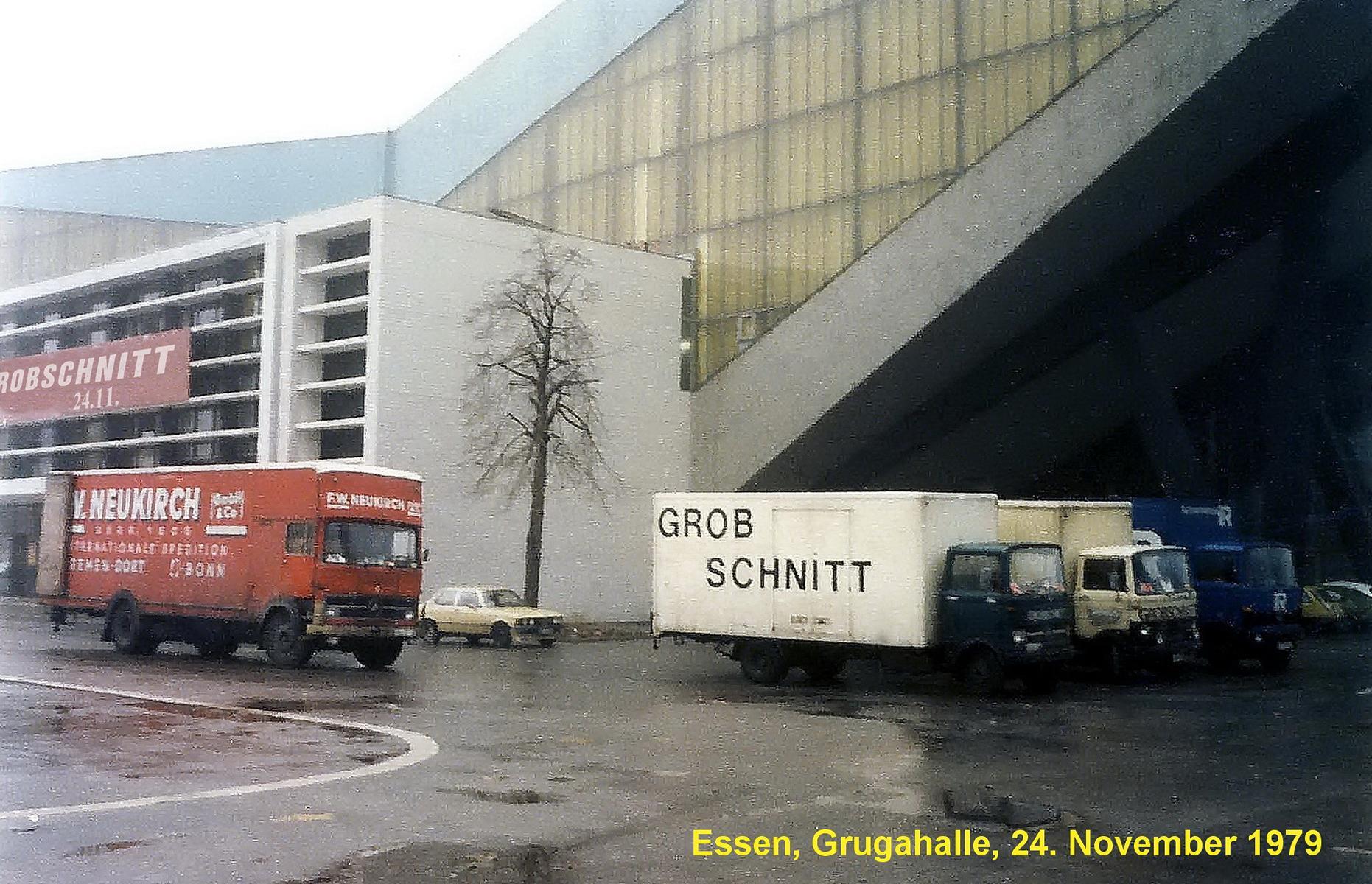 Grobschnitt-LKW vor Grugahalle