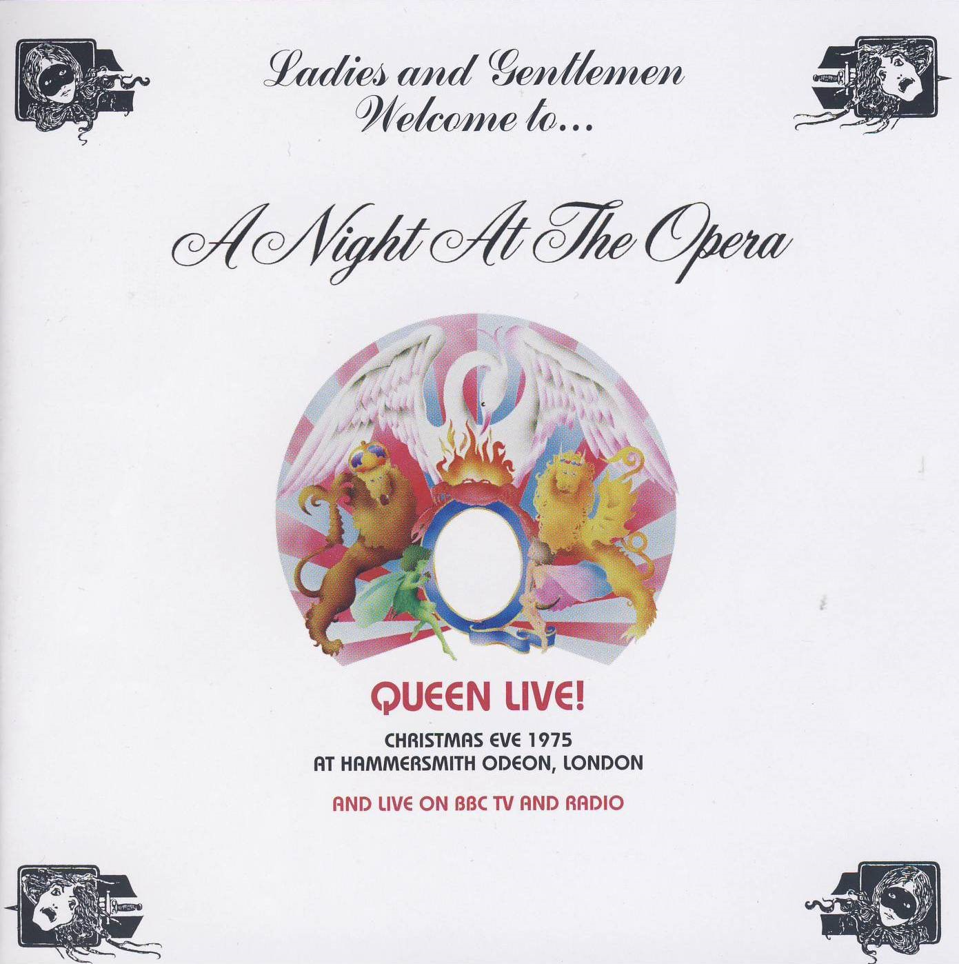 Queen - A Night At The Odeon-InnenCover