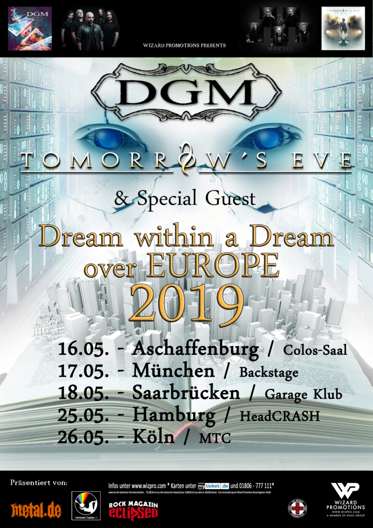 DGM & Tomorrow's Eve - Tour 2019, präs. v. BetreutesProggen.de