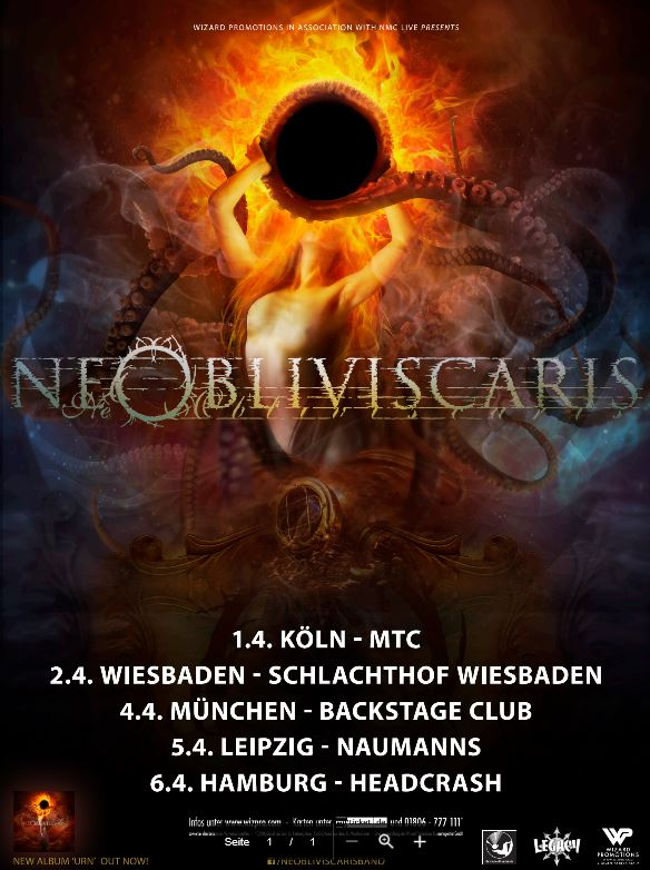 Ne Obliviscaris - D-Tour 2018 - mit Präsentatoren