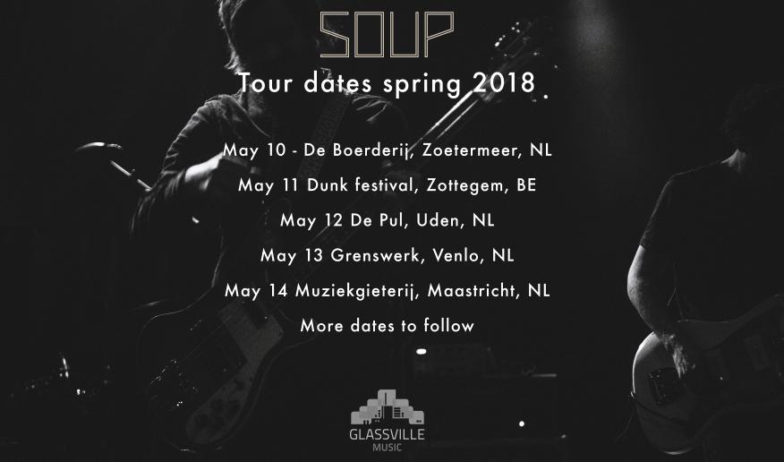 Glassville Music: bislang bekannte Termine der Soup-Tour 2018