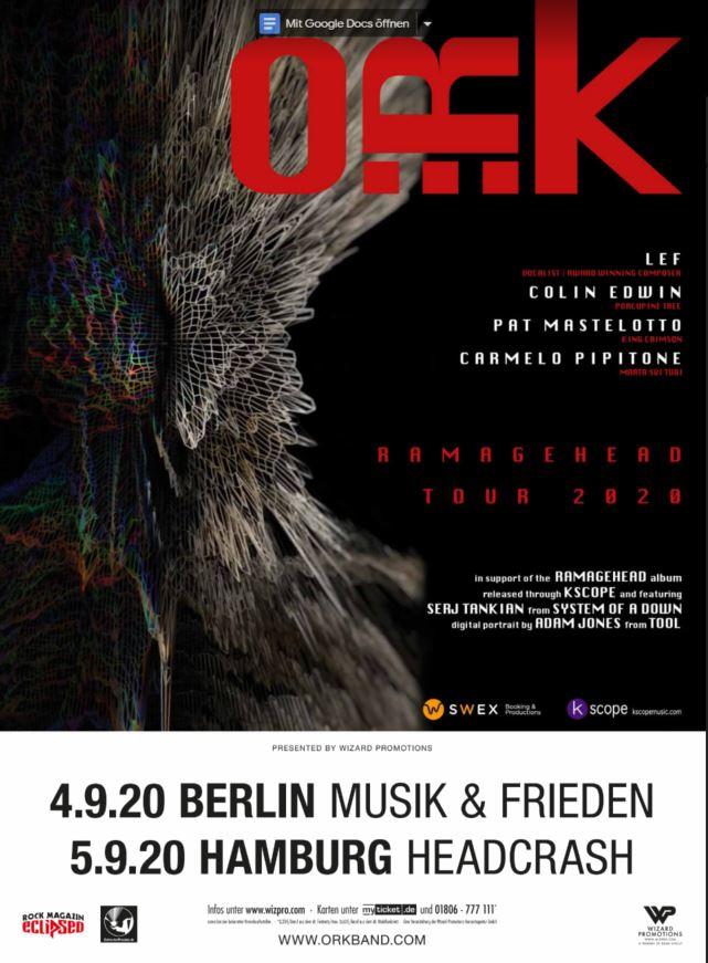 BetreutesProggen.de präsentiert die September-Termine von O.R.k. in Deutschland
