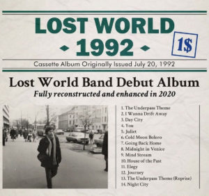 Lost World Band – Lost World 1992 / 2020 (unsigned/JFK, 1992/1.2.21)